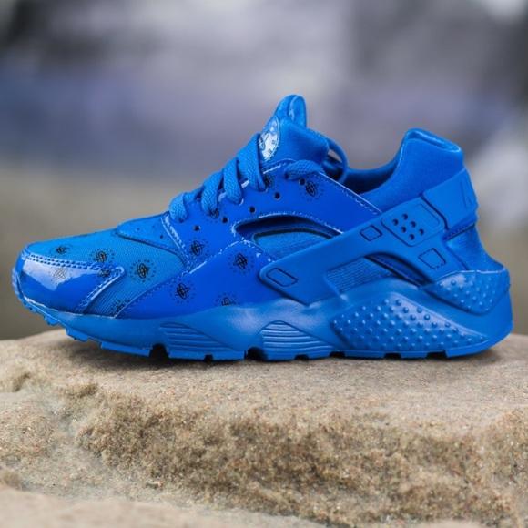 Nib Nike Royal Blue Huarache Run Se Gs